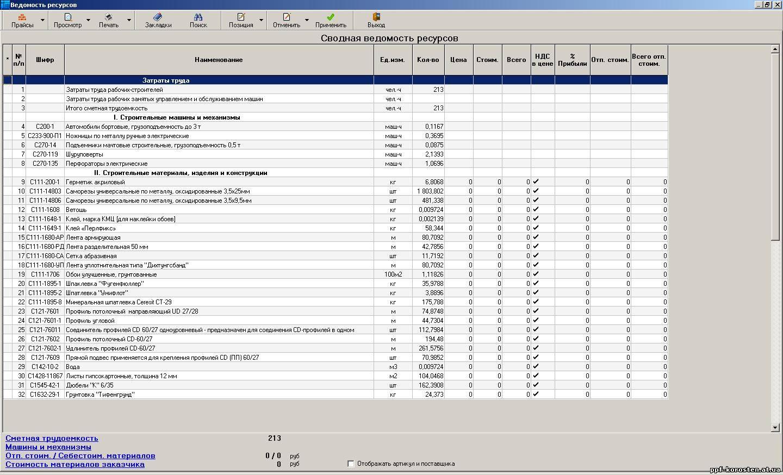 Как сделать расчет расхода строительных материалов